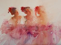 """""""Curtain Calls"""" From Jean Haines World of Watercolour""""  book"""