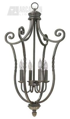 Quorum Lighting 6878-4 Tribeca Traditional Foyer Light QR-6878-4