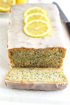 Gluten Free Lemon Poppyseed Bread pairs wonderfully with tea or coffee. Great for alone or with friends. Click through for recipe!