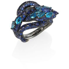 Gucci Le Marche Des Merveilles Blue Topaz, Sapphire & 18K White Gold... ($10,925) ❤ liked on Polyvore featuring jewelry, rings, apparel & accessories, blue topaz, snake jewelry, 18 karat gold ring, blue topaz white gold ring, blue topaz jewelry and blue topaz rings