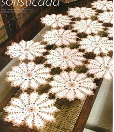 Resultado de imagem para graficos de caminhos de mesa em croche