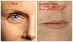 Mascarilla casera reafirmante para el contorno de ojos y labios