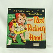 Peter Pan Records Storyland Favorite Little Red Riding Hood