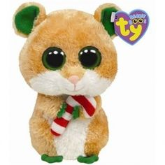 """Ty Beanie Boos Candy Cane - Hamster: """"From the Manufacturer Cute Candy Cane wants to nibble his way to you. Ty Beanie Boo's are of silky, soft, lovable fun. Rare Beanie Boos, Rare Beanie Babies, Christmas Beanie Boos, Big Eyed Stuffed Animals, Ty Beanie Boos Collection, Ty Peluche, Ty Animals, Beanie Boo Birthdays, Ty Babies"""