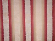 Stripe Chenille Cardinal Natural Fabric - The Millshop Online #fabric