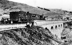 A train at Picton in south western Sydney in 1871,on Stonequarry Creek viaduct built for double lines and still in use.