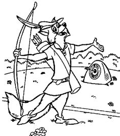 robin hood coloring page coloring pages printables pinterest