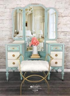 26 great ideas for makeup vanity antique great ideas for makeup vanity antique boudoir makeupSOLD Contact me for custom vanity in your colored antique vanity / vanity Makeup Vanity Antique Painted Furniture 15 Best Repurposed Furniture, Shabby Chic Furniture, Rustic Furniture, Table Furniture, Vintage Furniture, Living Room Furniture, Home Furniture, Modern Furniture, Furniture Ideas