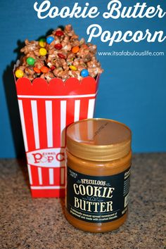 Cookie Butter Popcorn Recipe --- this stuff is SOOO addicting!  (Don't say I didn't warn you!!!)