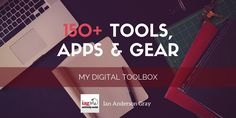 Over the years I've spent countless hours researching the best tools, apps and gear to manage my business. Here is a list of all of them!