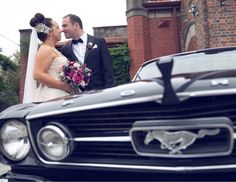 Mustangs in Black 1966 GT Convertible Ford Mustang out for Alexia and Savvas' wedding shoot. Photo by Phenomena Photography.
