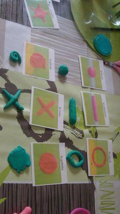 La maternelle à la maison: apprendre les formes en pate à modeler