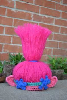Check out this item in my Etsy shop https://www.etsy.com/listing/519668467/trolls-crochet-hat-trolls-hair-trolls