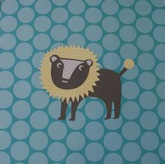 Blue lion baby boy nursery art from @Kidilicouspins #Pnapproved
