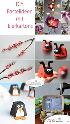 Super simple and cute DIY craft ideas with egg boxes - Super simple and cute DIY craft ideas with egg boxes Informations About Super einfache und niedliche - Easy Crafts For Kids, Diy And Crafts, Paper Crafts, Simple Crafts, Craft Gifts, Diy Gifts, Cute Diys, Gifts For Teens, Diy Flowers