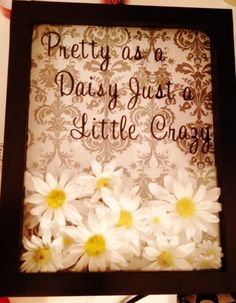 Shadow box filled with fake daisies for little #Tri Sigma