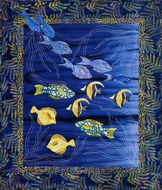 Sea Grass & Fish Quilt http://www.sylvia-pippen.com/gallery/