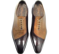Forzieri Brown Italian Handcrafted Leather Cap Toe Dress Shoes - Men's style, accessories, mens fashion trends 2020 Oxford Shoes Outfit, Men's Shoes, Shoe Boots, Shoes Men, Shoes Style, Mens Dress Outfits, Men Dress, Comfortable Mens Dress Shoes, Simple Shoes