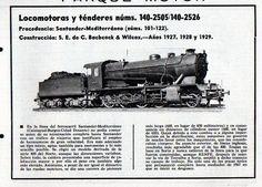 Locomotoras y ténderes 1927  Vía Libre