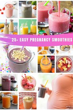 25 Easy Pregnancy Smoothie Recipes Perfect for your first trimester Healthy Liv. - 25 Easy Pregnancy Smoothie Recipes Perfect for your first trimester Healthy Living Ea 25 Easy Pr - Easy Smoothie Recipes, Easy Smoothies, Shake Recipes, Fruit Smoothies, Morning Smoothies, Healthy Pregnancy Snacks, Pregnancy Smoothies, Coffe Recipes, Baby Food Recipes