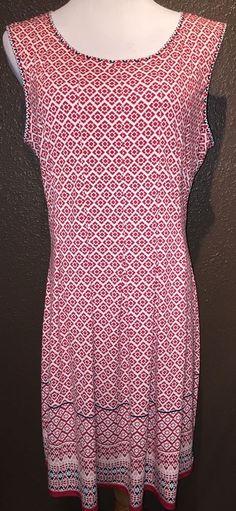 Studio M Stretch Pleated Red Black White Dress XL | eBay