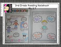 Grade Reading Interactive Notebook- Common Core Aligned- Teaching with Blonde Ambition Reading Strategies, Reading Activities, Reading Skills, Teaching Reading, Comprehension Strategies, Readers Notebook, Readers Workshop, Reading Notebooks, Interactive Notebooks