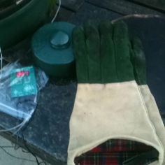Best gloves ever for Big Green Egg...LL Bean hearth gloves (long)