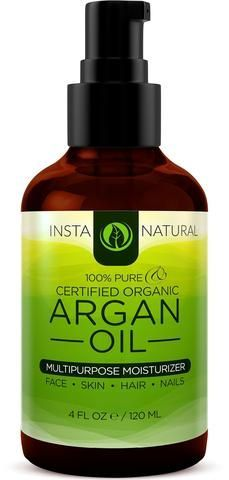 InstaNatural Organic Argan Oil for Hair Face Skin and Body 100 Pure and Certified Organic Cold Pressed Argan Oil of Morocco For Nails Dry Scalp Split Ends Stretch Marks More 4 OZ *** Check this awesome product by going to the link at the image. Coconut Oil Facial, Coconut Oil Moisturizer, Diy Moisturizer, Coconut Oil For Acne, Natural Moisturizer, Argan Oil Natural, Pure Argan Oil, Argan Oil Hair, Organic Argan Oil