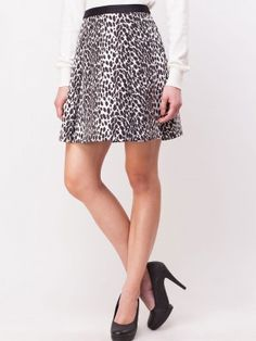 OASIS Animal Print Jacquard Skirt buy from koovs.com