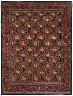 FEATURED ARRIVAL- HALVAI BIJAR, Northwest Persian 8ft 10in x 11ft 7in Late 19th Century http://www.claremontrug.com/antique-rugs-information/collecting/claremont-rug-companys-new-acquisition-highlights-antique-persian-rugs/halvai-bijar-persian-rug/