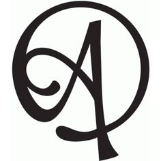Silhouette Design Store: round flourish monogram - a