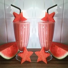 Watermelon and Fat-free yoghurt smoothie