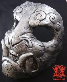 Demon mask silver by ~missmonster on deviantART