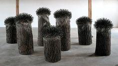"""""""Großer Wald"""", Werk von Günther Uecker, 1988/91"""