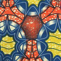 Wax Print Fabric - African Wax Print Fabric #196