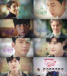 7 First Kisses ~ who would you prefer? (I'll take Ji Chang Wook)>> Lee jong suk Korean Drama Movies, Korean Actors, Korean Drama Quotes, Korean Dramas, Joon Gi, Lee Joon, 7 First Kisses Kdrama, Mini Dramas, Moorim School