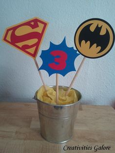 Superhero Centerpiece. $8.00, via Etsy.