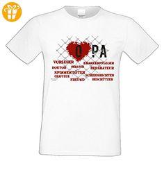 Geburtstagsgeschenk Opa Großvater :-: Herren T-Shirt als Geschenkidee :-: Herz Opa :-: Übergrößen 3XL 4XL 5XL :-: Geschenk zum Geburtstag für Opa Farbe: weiss Gr: L (*Partner-Link)