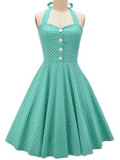 Halter Polka Dot Hot Sale Skater-dress