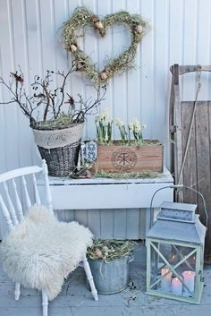 Top 14 Easter Garden Decor Ideas – Easy Backyard Design For Cheap Party Project - Easy Idea Jardin Style Shabby Chic, Vintage Shabby Chic, Shabby Chic Decor, Easter Garden, Vibeke Design, Holiday Planner, Porch Decorating, Decorating Ideas, Decor Ideas