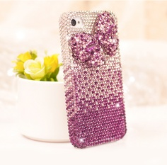 luxurious Rhinestone Gradient bowknot iphone 4/4s case