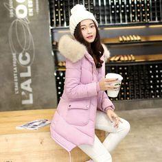 (26.87$)  Watch now  - 2016 New Fashion Thin winter jacket women Cotton  coat women  womens winter Padded  jackets and coats parka