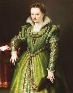 Lavinia Fontana. Portrait of Laura Gonzaga in Green.