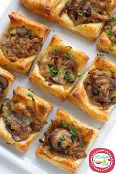 Mini Quiche ai funghi e groviera - Swiss cheese and Mushrooms quiches