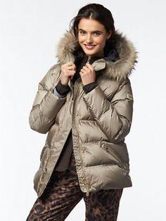 dania down parka Puffy Jacket, Ski Pants, Down Parka, Hand Warmers, Skiing, Winter Jackets, Zip, Sleeves, Fashion