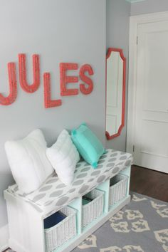 Jules' Fresh Mint  Coral Tween Room Professional Project | Apartment Therapy