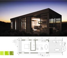Ecomo: EM 02 (South Africa) Small Tiny House, Small House Plans, Prefab Houses, Tiny Houses, Tiny Living, Living Spaces, Modular Housing, Mini Homes, Small Places