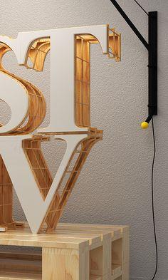Konstruktiv by Jean-Michel Verbeeck, via Behance Retail Signage, Wayfinding Signage, Signage Design, Artistic Installation, Light Installation, Exhibition Display, Outdoor Signs, Environmental Graphics, Shop Interior Design