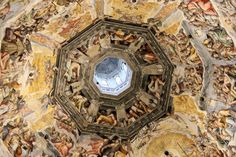 santa maria del fiore ceiling - florence - italy