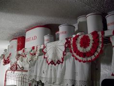 great idea for displaying crochet collection and vintage enamelware.  Idea for my kitchen